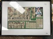 Sale 8863S - Lot 46 - Signed Ian Healy Collage, Aust v Pakistan, framed.
