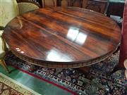Sale 8831 - Lot 1046 - William IV Rosewood Centre Table on Pedestal Base