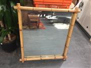 Sale 8822 - Lot 1778 - Bamboo Framed Mirror