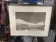 Sale 8914 - Lot 2055 - Kevin Oxley - Energy Ball, 1976 ink and wash, 36 x 46cm (frame), signed