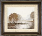 Sale 9011 - Lot 2004 - Michael McCarthy (1940 - ) - Silver Mist, 1977 18.5 x 23.5 cm (frame: 32 x 37 x 3 cm)