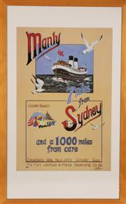 Sale 9057 - Lot 4 - Manly Ferry Framed Print 63cm x 100cm
