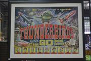Sale 8287 - Lot 1096 - Vintage Thunderbirds Mounted Print