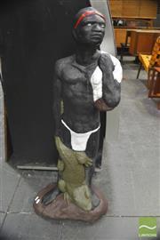 Sale 8326 - Lot 1008 - Concrete Native Statue