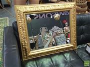 Sale 8424 - Lot 1045 - Gilt Framed Square Bevelled Edge Mirror