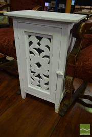 Sale 8542 - Lot 1040 - Timber Painted Bedside