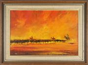 Sale 8807 - Lot 2035 - John Kerr (1949 - ) - The Round Up 41 x 61.5cm