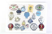 Sale 8796 - Lot 51 - A Set of 4 Frames of Various Vintage Badges inc Mostly Cars, Services and Others