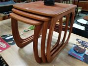 Sale 8930 - Lot 1089 - Nathan Teak Nest of Three Tables
