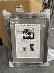 Sale 8995 - Lot 2066 - Print Sydney Morning Herald, 1st. Sept. 1959 & Tile Plaque of urn with flowers