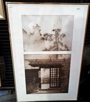 Sale 9061 - Lot 2007 - Peter Hickey (1947 - ) - Vision through a Japanese Gateway 63.5 x 35 cm (frame: 79 x 54 x 2 cm)