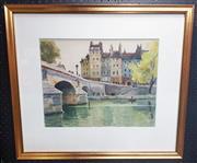 Sale 9053 - Lot 2022 - Pierre Thibault, Parisian Scene, watercolour, 59 x 68 cm, signed lower left