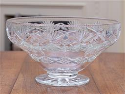 Sale 9190H - Lot 84 - A large English Webb Corbett hand cut lead crystal footed bowl C: 1940s
