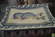 Sale 8310 - Lot 1634 - Greek Tapestry Dolphins