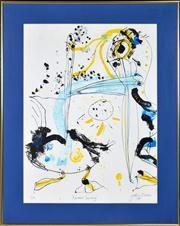 Sale 8344 - Lot 527 - John Olsen (1928 - ) - Pelicans Coorong, 1978 75 x 57cm