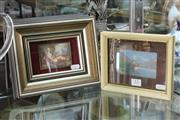 Sale 8360 - Lot 13 - Watercolour of Diana Huntress by Pimpinelli & Chillon Castle, Lake Geneva