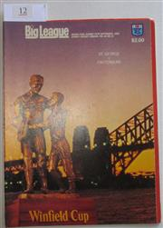 Sale 8404S - Lot 12 - 1985 Big League Grand Final Programme, Sept 29 (Vol.66, No.30), St George v Canterbury