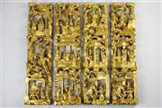Sale 8456 - Lot 21 - Chinese Gilt Carved Timber Wall Panels