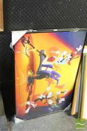 Sale 8468 - Lot 2041 - 2 Large Framed Disney Prints (glass AF)