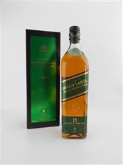 Sale 8498 - Lot 1743 - 1x Johnnie Walker 15YO Green Label Blended Scotch Whisky - 700ml in box