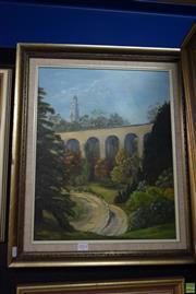 Sale 8569 - Lot 2014 - Klara Komlos - Aqueduct 62.5 x 52cm (frame)
