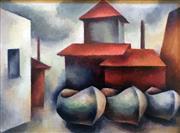 Sale 8655A - Lot 5016 - Nancy Borlase (1914 - 2006) - Balmain Shipyard, c1949 27 x 36.5cm