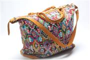 Sale 8657X - Lot 10 - Guatemala Leather and Woven Travel Bag, 55cm