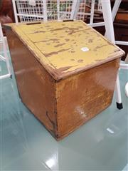 Sale 8777 - Lot 1098 - Rustic Timber Shoe Shine Box