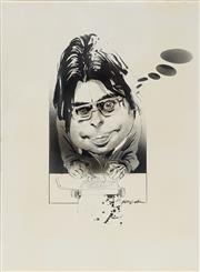 Sale 8883A - Lot 5009 - Bill Leak (1956 - 2017) - Stephen King 36 x 27 cm