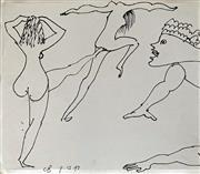 Sale 8808A - Lot 5013 - Charles Blackman (1928 - 2018) - Dancers 1993 18 x 20.5cm