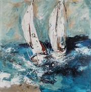 Sale 8901A - Lot 5024 - Cheryl Cusick - Boat Race 100 x 100 cm