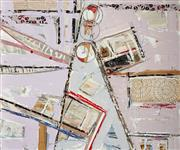 Sale 8961 - Lot 2007 - Ian Thomas Sportiff mixed media on canvas, 100 x 120 x 4 cm, signed and dated lower left, titled verso -