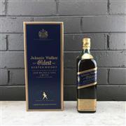 Sale 8970 - Lot 653 - 1x Johnnie Walker Oldest Blended Scotch Whisky - old bottling, pre-Blue Label, bottle no. E26950JW, 43% ABV, 750ml in box