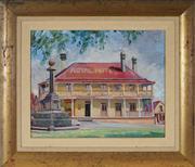 Sale 9021 - Lot 567 - Tempe Manning (1893 - 1960) - Royal Hotel 49 x 36.5 cm (frame: 46 x 53 x 2 cm)