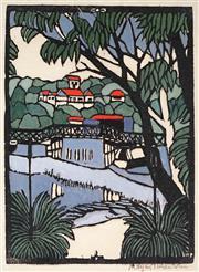 Sale 9009A - Lot 5070 - Margaret Preston (1875 - 1963) - Mosman Bridge 42 x 30 cm (frame: 68 x 58 x 3 cm)