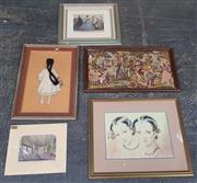 Sale 9019 - Lot 2085 - Collection of Engravings, Prints, Tapestries, etc