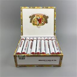 Sale 9165 - Lot 620 - Romeo y Julieta No.2 Cuban Cigars - box of 25 tubos, stamped May 2018