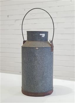 Sale 9154 - Lot 1039 - Galvanised cream urn (h:35cm)