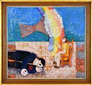 Sale 8344 - Lot 569 - Leonard French (1928 - 2017) - Spring Bouquet 38.5 x 44cm