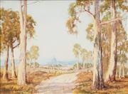 Sale 8592 - Lot 2013 - Andrew Park (active 1940 - 1960s) - Sunlit Gums, Temora Riverina, 27.5 x 37.5cm