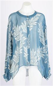 Sale 8640F - Lot 86 - A Sass & Bide sheer silk printed top, size 14.