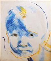 Sale 8678 - Lot 2055 - Artist Unknown - Untitled (Portrait of a Baby), acrylic on canvas (AF), 129 x 109, unsigned