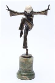 Sale 8729 - Lot 1 - Art Deco Chryselephantine Figure by Joseph Lorenzl