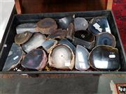Sale 8822 - Lot 1181 - Tray of Natural Polished Agate