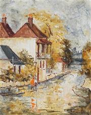 Sale 8867A - Lot 5021 - Wilmotte Williams (1916-1992) - Balmain Terrace 35 x 28 cm