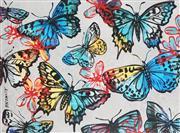Sale 8901A - Lot 5017 - David Bromley (1960 - ) - Butterflies 97 x 115 cm