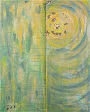 Sale 9066H - Lot 197 - Samantha Bailey - Abstract Landscape With Setting Sun Mixed media on canvas