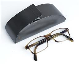 Sale 9091F - Lot 69 - A PAIR OF OLIVER PEOPLES PERSCRIPTION READING GLASSES, tortoise shell finish in case.
