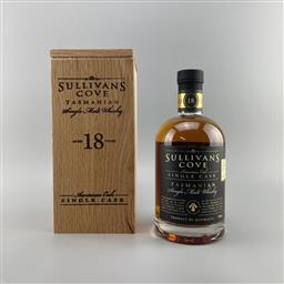 Sale 9142W - Lot 1024 - Sullivans Cove American Oak Single Cask 18YO Single Malt Tasmanian Whisky - barrel no. HH0105, bottle no. 87/181, filled 20/12/199...