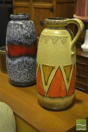 Sale 8287 - Lot 1028 - Two West German Pottery Vases